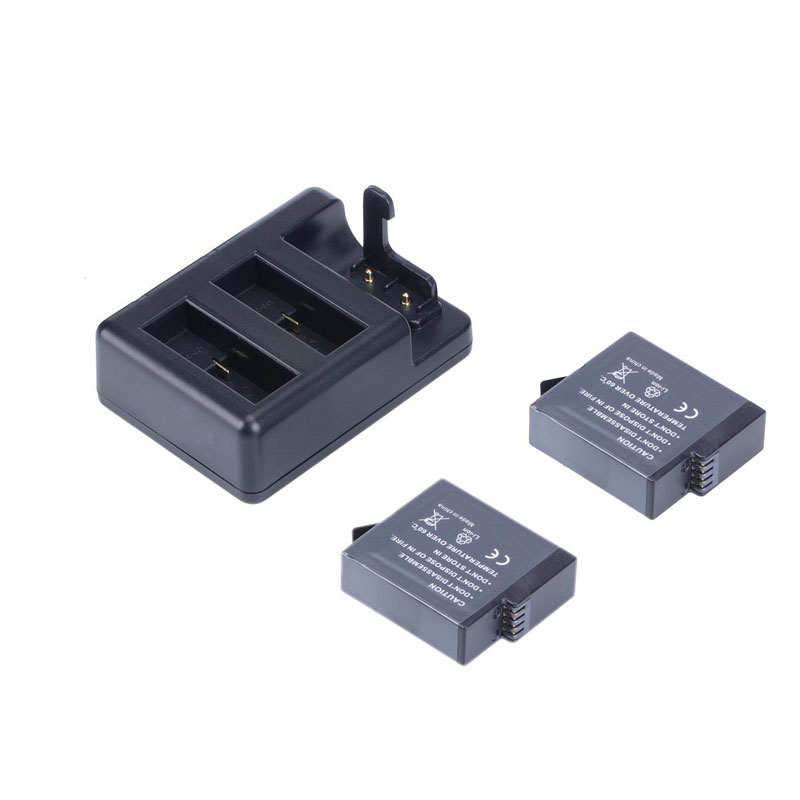 2pcs Battery For GoPro Hero 6 5 +Batteries and Remote Control Charging Seat Triple Charger for GoPro 6 5 TELESIN Wifi Controller telesin wifi remote control for go pro hero 5 action camera accessories charging cable wi fi controller for gopro hero 6 5 4 3