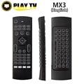 50 unids MX3 Retroiluminación Portátil 2.4G Air Mouse Teclado Inalámbrico de Control Remoto para la TELEVISIÓN Inteligente Android TV box mini PC HTPC