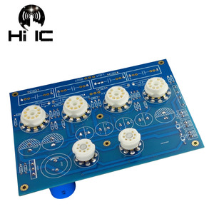 Image 5 - Oliwkowe wzmacniacze lampowe HiFi karta audio Amplificador przedwzmacniacz mikser audio 6Z4*2 + 12AU7*2 + 12AX7*2 przedwzmacniacz zaworu bufor żółciowy