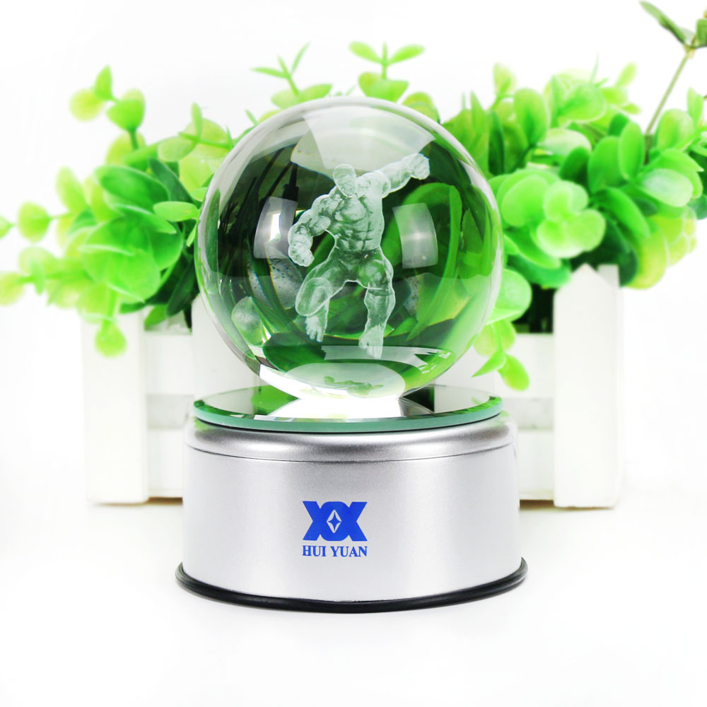 Avengers Hulk 3D Crystal Ball Lamp Desktop Decoration Glass Ball - Night Lights - Photo 5