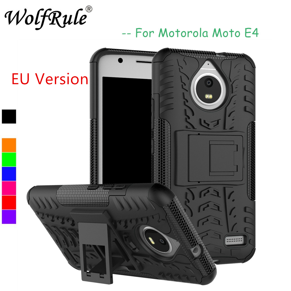 WolfRule For Case Moto <font><b>E4</b></font> Cover Soft Silicone + Plastic Case For Moto <font><b>E4</b></font> Case For <font><b>Motorola</b></font> Moto <font><b>E4</b></font> <font><b>XT1762</b></font> XT1772 Fundas 5.0