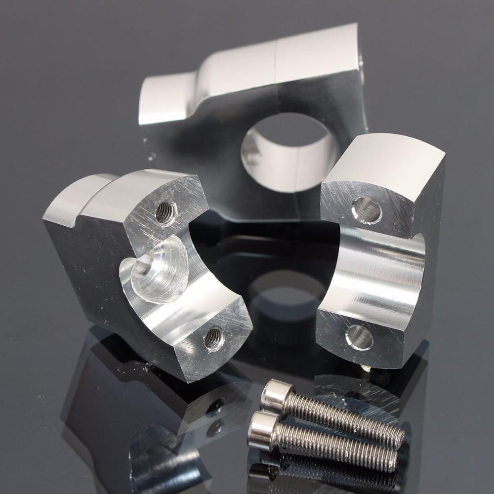 22mm CNC Motorcycle Handle Bar Mount Risers Clamp Aluminium For ATV 6