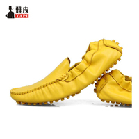 US5 10 New Breathable real Leather Casual SLIP ON Business Shoes men driving loafers shoes 9 colors