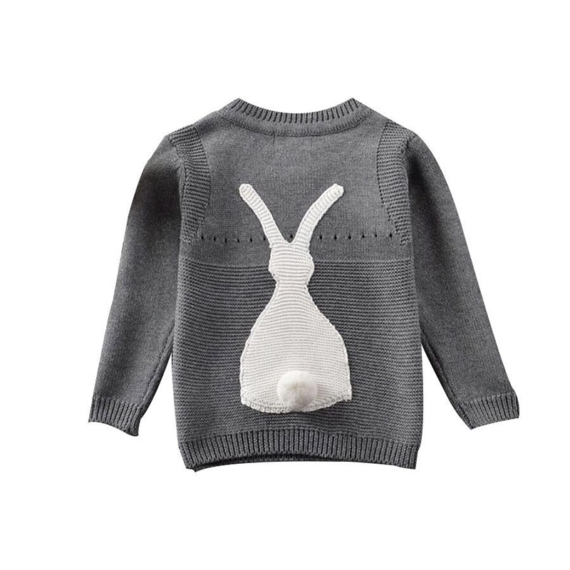 Autumn Toddler Baby Boys Girls Sweaters Pullover Jumper Knitwear Rabbit Long Sleeve Clothes Boy Sweater Children Clothing