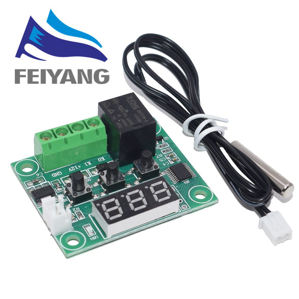 W1209 lumière bleue/rouge DC 12V chaleur température froide thermostat interrupteur de contrôle de température régulateur de température thermomètre thermo