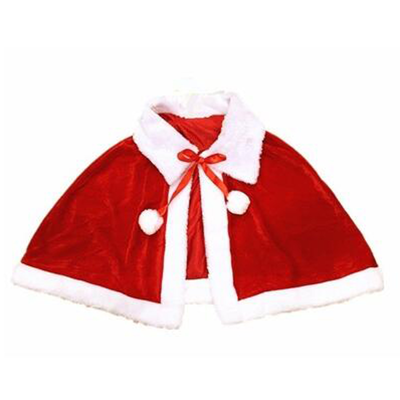 New Design Christmas Clothes For Gilrs Women Xmas New Year Gift Santa Claus Cloak And Hats