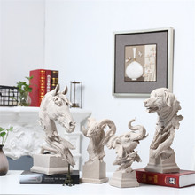 Creative Decoration hogar Sculpture  Animal Shape Living Room Bookcase TV Cabinet Sandstone Crafts enfeites para casa decoracao