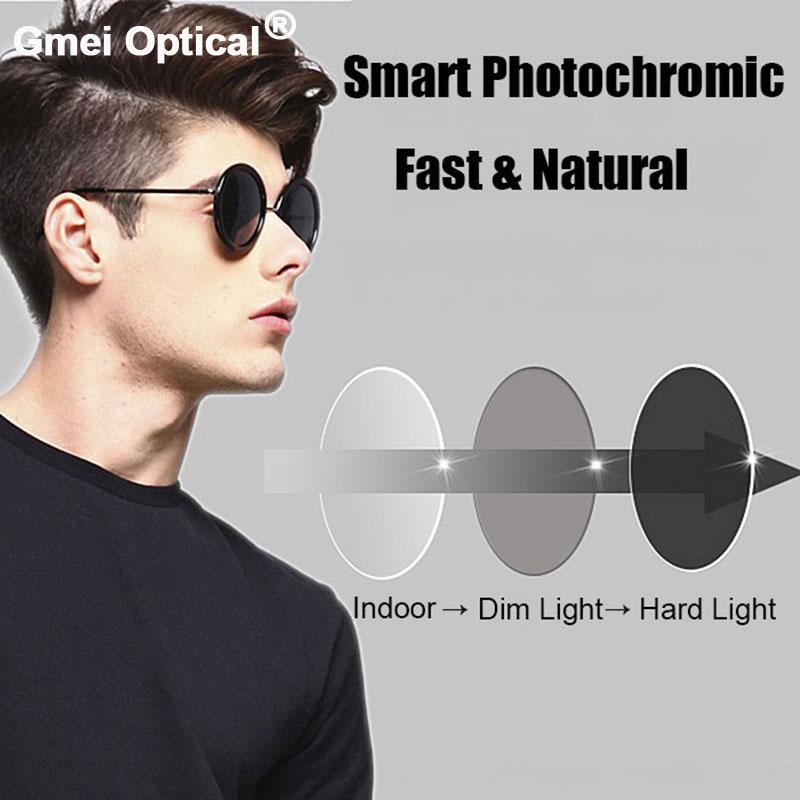 Coating Photochromic Lenses 1.61 High Index Single Vision Aspheric Prescription Lens Anti-Radiation & UV Color Change Quickly