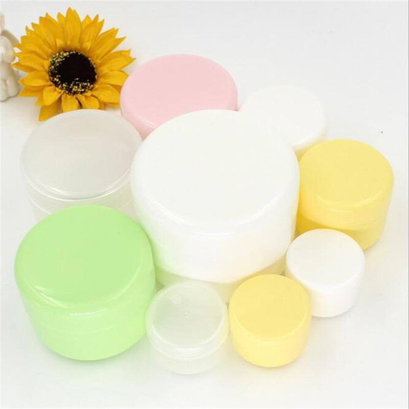 2dae13dc4d66 10PCS Refillable Bottles Plastic Empty Makeup Jar Pot Travel Face ...