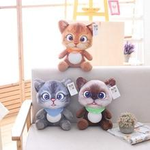 20cm Cute Soft 3D Simulation Stuffed Cat Toys Double side Seat Sofa Pillow Cushion Kawaii Plush Animal Cat Dolls Toys Gifts