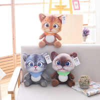 20cm Cute Soft 3D Simulation Stuffed Cat Toys Double-side Seat Sofa Pillow Cushion Kawaii Plush Animal Cat Dolls Toys Gifts