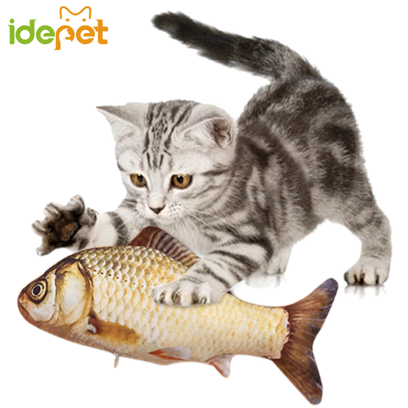 1PC Cat Toy Favor Fish For Supplies Mint Stuffed Scratch Board Scratches Pet