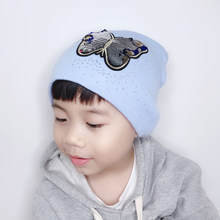 winter kids beanie funny knitted hat for children cartoon skullies caps(China)