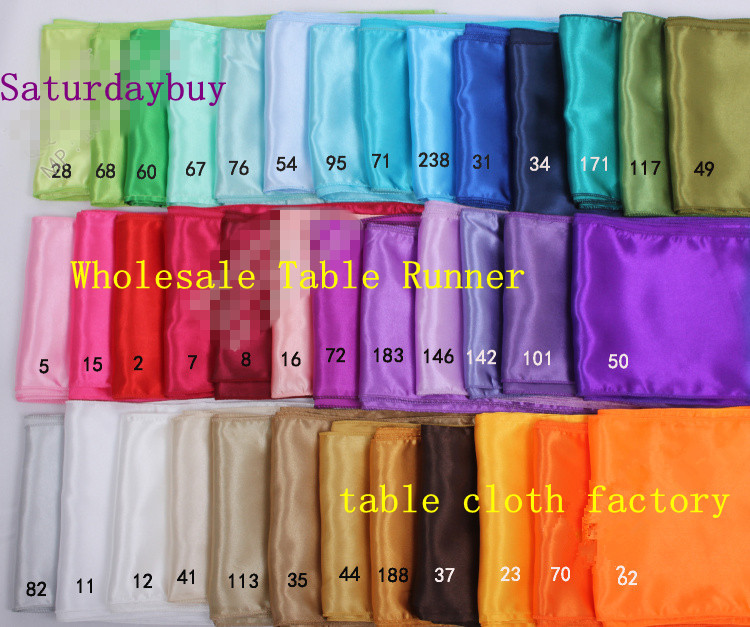 wedding satin table runners