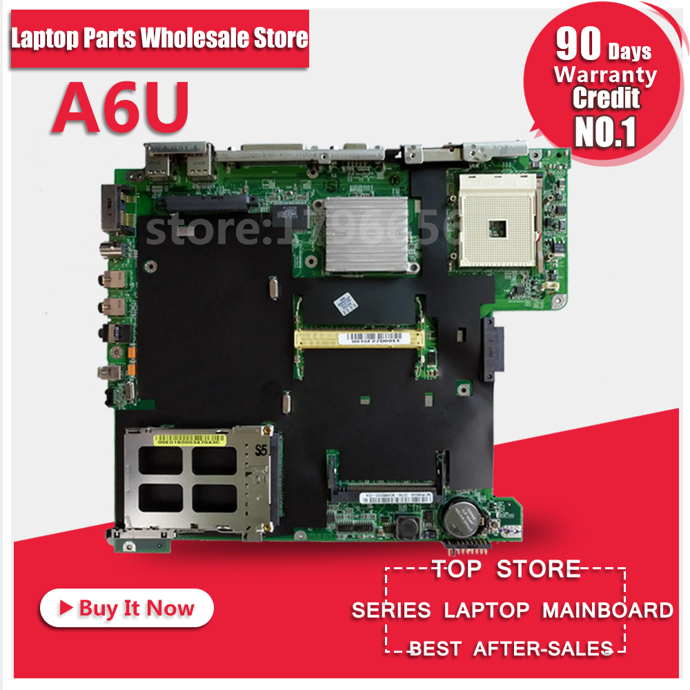 все цены на Laptop Motherboard For ASUS A6U Z92U A6000U System Board Main Board Mainboard Card Logic Board Tested Well Free Shipping