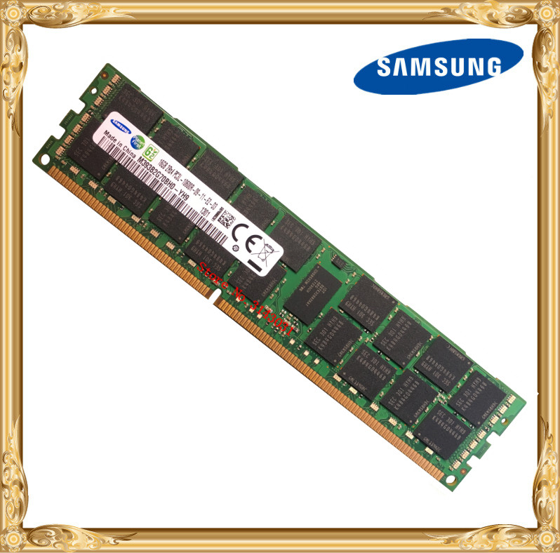 Samsung server memory DDR3 16GB 1333MHz ECC REG Register DIMM PC3L-10600R RAM 240pin 10600 16G samsung server memory ddr3 16gb 32gb 1600mhz ecc reg ddr3l pc3l 12800r register dimm ram 240pin 12800 16g 2rx4