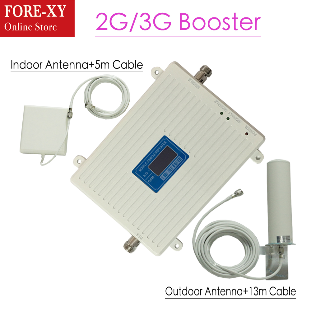 2g 3g GSM répéteur double bande Booster GSM 900 MHz UMTS 2100 MHz répéteurs de Signal de téléphone portable GSM 3G amplificateur GSM WCDMA booster