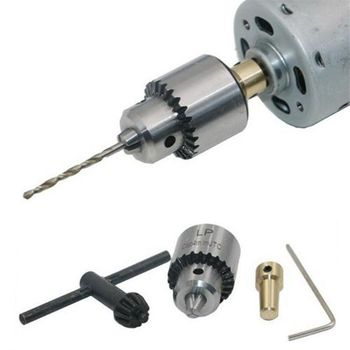 Mini DC 12 V Trapano A Mano Elettrico Motore PCB Presse di Perforazione Compatto Set 3.17 millimetri di Coda Apertura Twist Bit 0.3 -4mm JT0 Mandrini Strumento