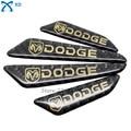 Real Carbon Fiber Car Door Scuff Sticker Bumper Strip Anti-Rub Protective Guards For Dodge Caravan Nitro Challenger Avenger 4Pcs
