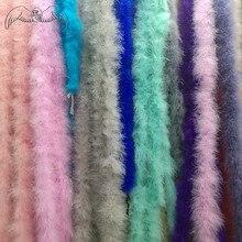 Красивые 2 м 15-17 г перья боа марабу турок перо боа/вечернее платье/одежда/шаль/Аксессуары для косплея различные цвета