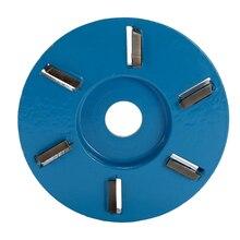 Outil pour la sculpture du bois, disque à trois dents, outil de fraisage, disque de coupe Turbo pour meuleuse dangle douverture de 16mm
