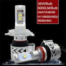 Новое Поступление 2 ШТ. LED H4 G8 12 Месяцев Гарантии 72 Вт 6500 К Белый Холодный Прокат Фар