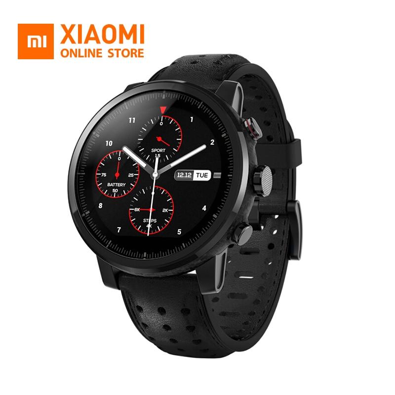 Xiao mi mi Hua mi Amazfit Montre Stratos 2 Anglais Version Montre de Sport Avec GPS PPG Moniteur de Fréquence Cardiaque 5ATM étanche Intelligent