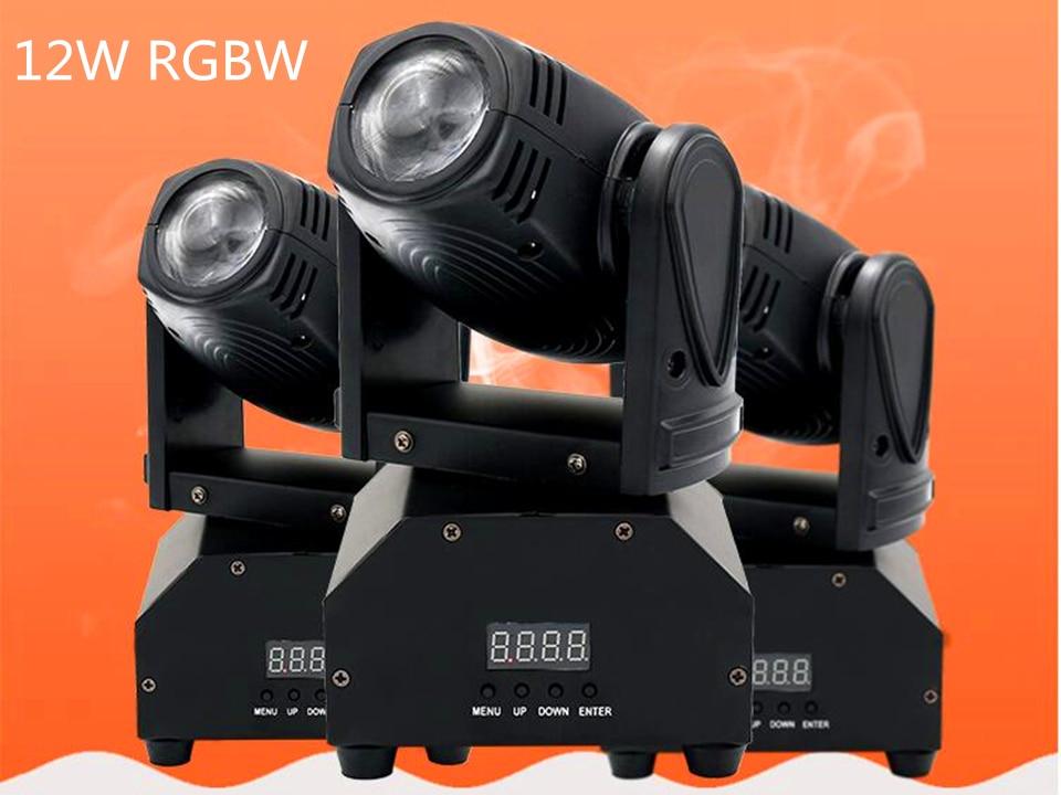 NEW 12W 4in1 Mini moving head DMX512 light beam Lights LED spot Lighting DJ Show Disco Laser Light
