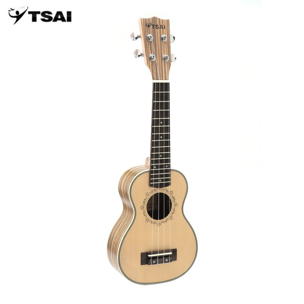 TSAI Ukulele Soprano Concert Tenor Acoustic Electric Ukulele Mini Guitar With EQ Zebra Wood Plug-in Musical Instrument acouway 21 inch soprano 23 inch concert electric ukulele uke 4 string hawaii guitar musical instrument with built in eq pickup