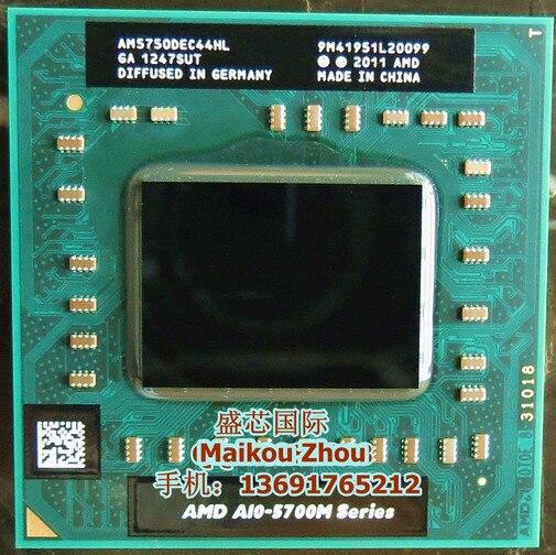 AMD laptop Mobile A10 5750M A10 5750m a10 5750M Socket FS1 CPU 4M Cache/2.5GHz/Quad Core Laptop