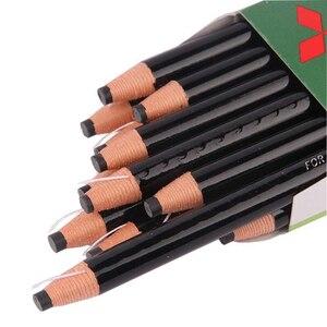 Image 2 - 12 teile/schachtel Japan Weiß Schwarz Dermograph Mitsubishi 7600 UNI Weiche Farbige Bleistifte für Tattoo Augenbraue Marker Farbe Bleistift