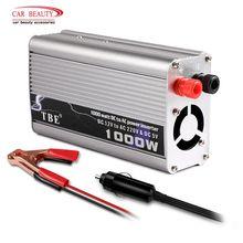 Инвертор 1000 Вт DC 12 В в AC 220 В автомобильный преобразователь модифицированный синусоидальный инвертор автомобильный адаптер зарядного устройства с двумя USB