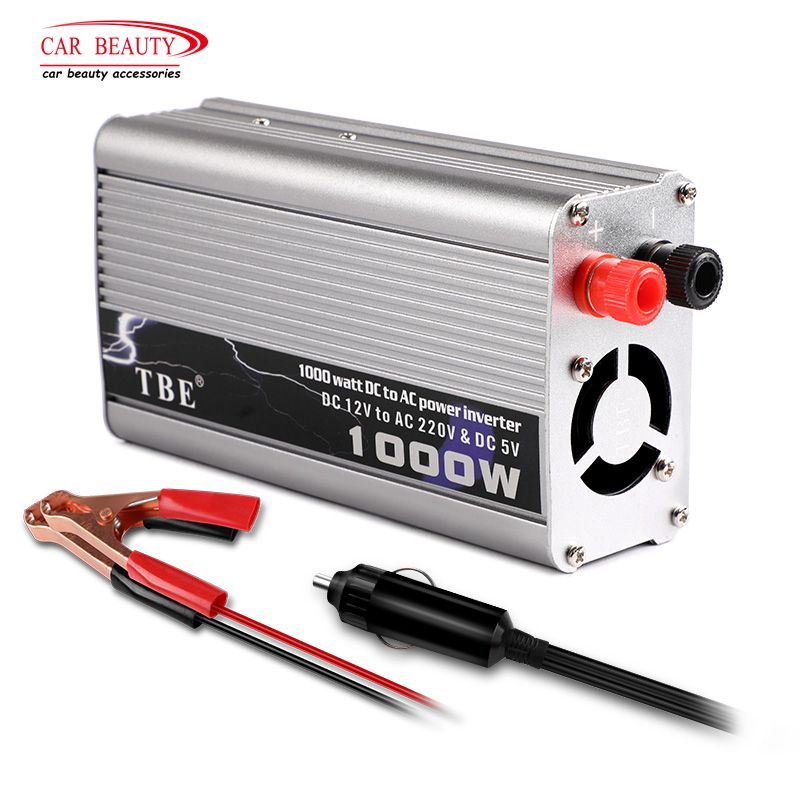 цена Inverter 1000 Watt DC 12V To AC 220V Car Converter Modified Sine Wave Power Inverter Camper Car Charger Adapter with Dual USB