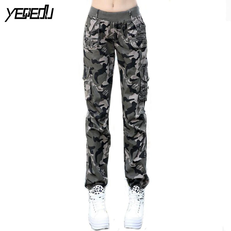 Innovative  Baggy Camouflage Pants For Women Overalls Multicolour Hip Hop Pants