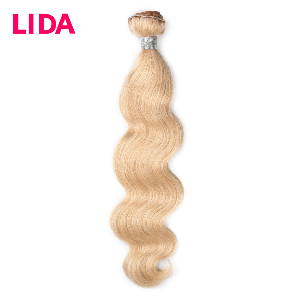 LIDA 3 Pieces #613 Body Wave Hair Bundles Brazilian Body Wave Hair Extensions Non-Remy Double Weft Human Hair Weaving