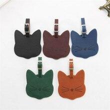 Zoukane прекрасный кот кожаная бирка для чемодана этикетка сумка Подвеска Сумочка Аксессуары для путешествий имя ID адрес метки LT12
