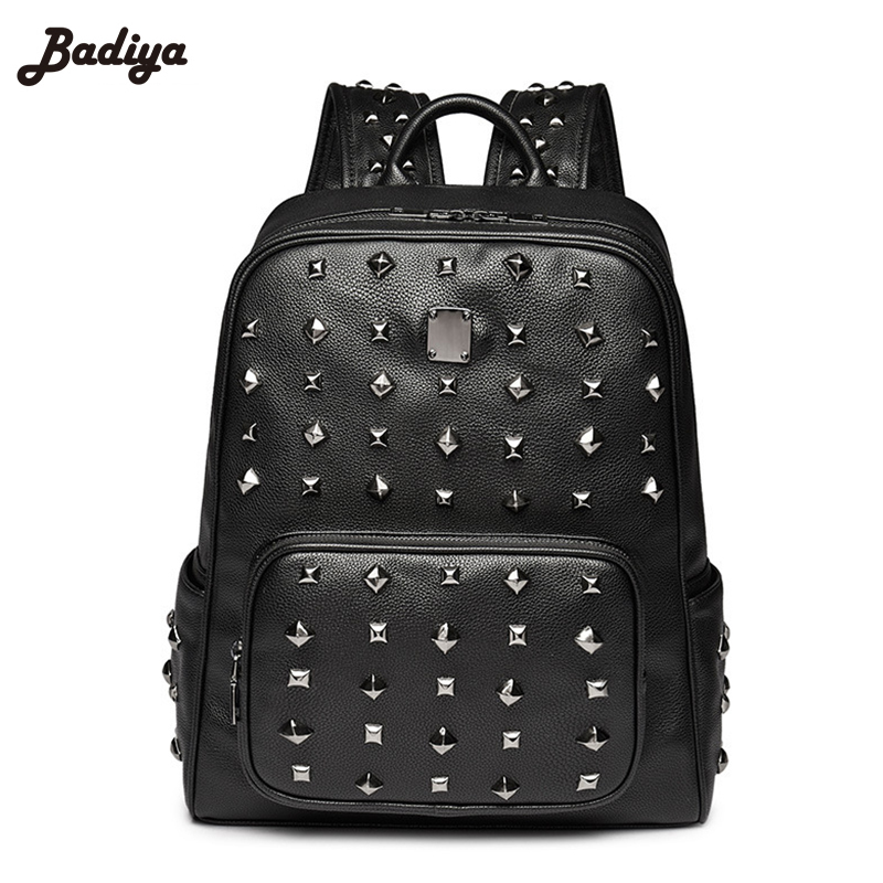 New Rivets Korean Computer Package Backpack Female College Students  Senior High School Student Large Capacity Backpack Bag rdgguh backpack bag new of female backpack autumn and winter new students fashion casual korean backpack