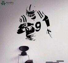 YOYOYU Wall Decal American Football Player Stickers For Kids Rooms Sports Housewares Vinyl Home Decor Boys Bedroom DIYSY785