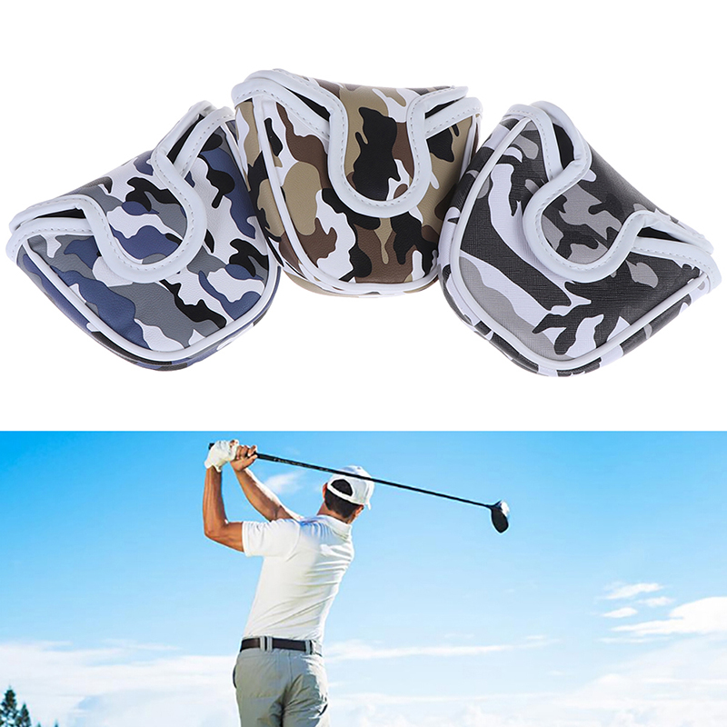 1 Piece Golf Putter Headcover PU Leather Dustproof  Camouflage Pattern Head Cover For Putter Golf Putter Cover Bag Mallet
