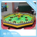 Dia 8M mechanical sport game inflatable rotary motion machine for 8 people