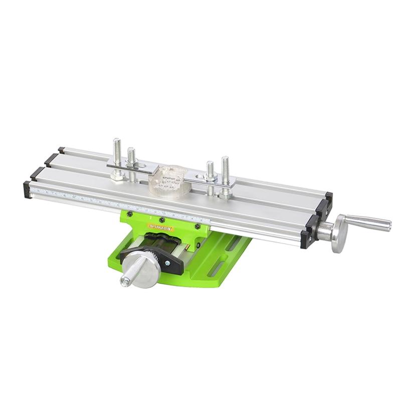 Купить с кэшбэком Miniature Precision Multifunction Milling Machine Bench Drill Vise Fixture Worktable X Y-axis Adjustment Coordinate Table