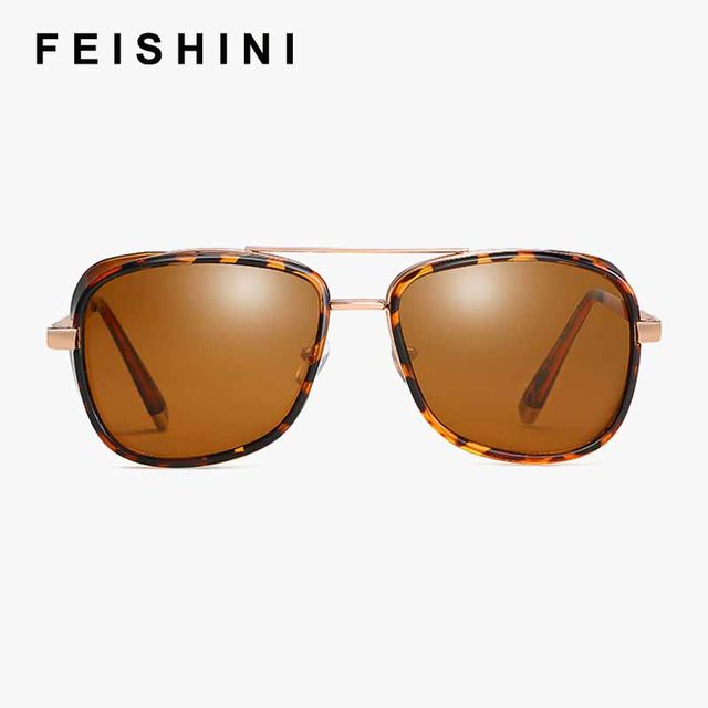 8a653d52a2 FEISHINI Summer Windbreak Quality Sunglasses Men Brand Designer Celebrity  Celebrity Iron Man Downey Style Goggle Glasses Women