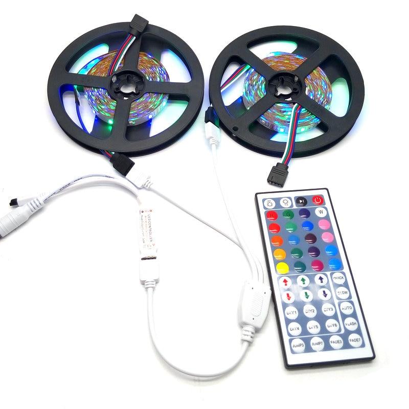 10M SMD 3528 RGB СИД жолағы жиынтығы 12V DC қуат - LED Жарықтандыру - фото 2