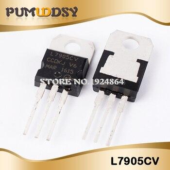 10 pces ic novo l7905cv l7905 7905 a-220 regulador de tensão 5v ic