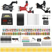 Stigma 2018 Professional Full Tattoo Kit 3 Rotary Tattoo Machine Alloy 54 Color Ink Set Power Supply Complete Tattoo Kits TK355 professional tattoo kits tattoo machine gun power supply system needles ink set alloy gripping complete tattoo equipment kit eu