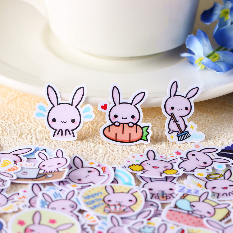 40pcs Creative kawaii cute Self-made rabbit baby scrapbooking stickers /decorative sticker /DIY craft photo albums