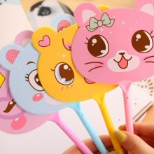 1pcs/lot Cute Animal Expression Fan Ballpoint Pen Kids' Toy Gifts Office And School Supplies Canetas expression matchstick style plastic ballpoint pen white yellow