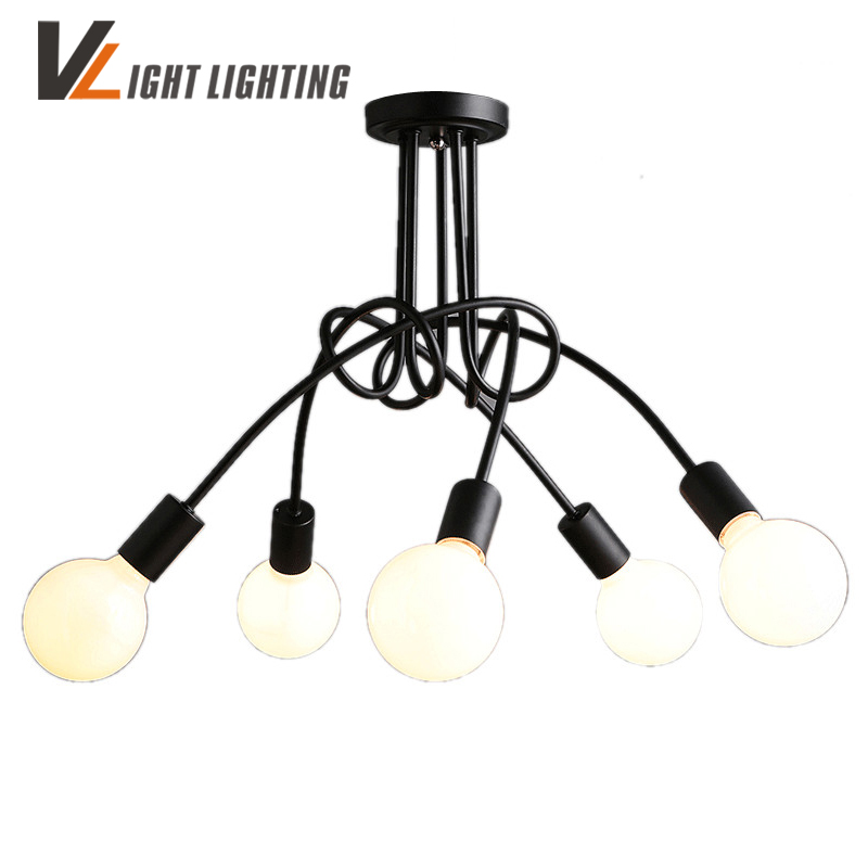 Vintage Led Ceiling Lights for the living room Lustre Luminaire Plafonnier For Home   Lighting Lamparas De Techo Lustre 3/5 Head modern led ceiling lights for home lighting plafon led ceiling lamp fixture for living room bedroom dining lamparas de techo