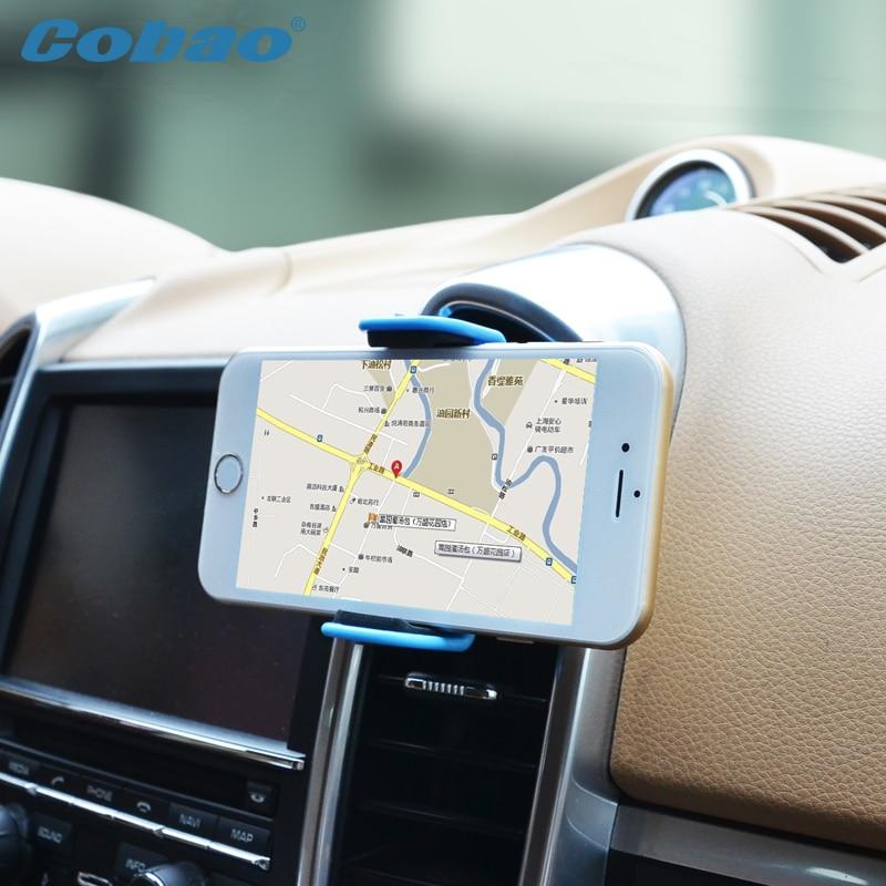 360 grados de coche universal soporte para teléfono cobao air vent mount soporte del sostenedor del teléfono móvil del coche del teléfono celular del teléfono móvil accesorios