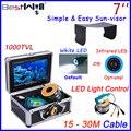 Bestwill original cámara pesca submarina buscador de los pescados pesca en el hielo de vídeo cámara de 7 pulgadas monitor led controlador hd 1000tvl